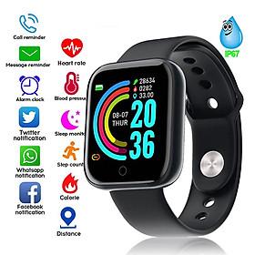 Đồng Hồ Smart Watch Nam Nữ Cảm Ứng Đơn Phím Lướt Nhẹ Nhàng Định Vị Nhắc Nhở Thông Minh DHY68