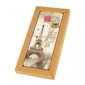 Hộp 30 Bookmark Đánh Dấu Sách Paris Tháp Eiffel Vintage Retro