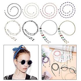 8pcs  Beaded Eyeglasses Chains Holder Eyewear Retainer Mask Chain