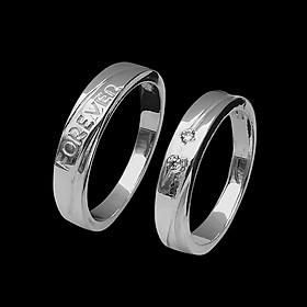 Nhẫn đôi BẠC HIỂU MINH nc462 say đắm