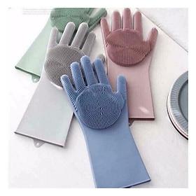 Bộ 2 găng tay rửa bát silicon tạo bọt đa năng