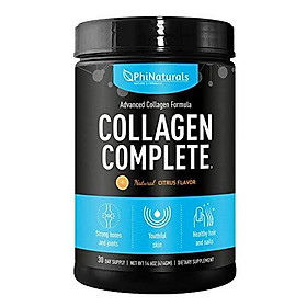 Collagen Complete Hydrolyzed Protein Powder – Kosher and Grass-Fed Beef – Non-GMO Paleo & Keto Friendly Anti-Aging Peptides Diet Booster – Joints Bone Support Organic Supplement – [Citrus]