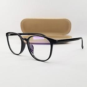 Gọng kính nam nữ màu nâu, xám, đen mắt tròn nhựa dẻo SA2036. Tròng kính giả cận 0 độ chống ánh sáng xanh, chống nắng, tia UV