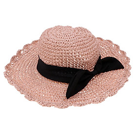 Parent-child Floppy Summer Sun Beach Straw Hat Foldable Wide Brim
