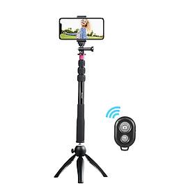 Bộ Gậy Tự Sướng + Chân Đế Mini + Giá Đỡ Điện Thoại + Điều Khiển Từ Xa Không Dây Andoer Cho Iphone X/8/7 Plus Samsung S8 Máy Ảnh GoPro Hero 6/5/4/3+/3 Máy Ảnh Kỹ Thuật Số