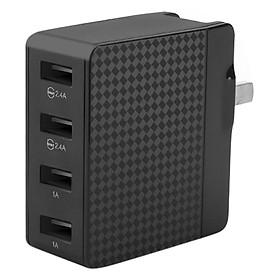 Hình đại diện sản phẩm Adapter Sạc 4 Cổng USB Pisen (Đen) - Hàng Chính Hãng