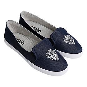 Giày Slip On Nữ Urban  UL1704 - Bò Xanh Chàm