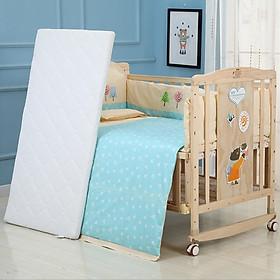 Giường cũi , nôi chơi cho bé kéo dài full set gồm cũi , màn , đệm xơ dừa , quây cũi gối