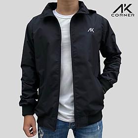 Áo khoác nam cao cấp AK Corner có nón, vải Xi Nhật dày dặn, có lớp cách nhiệt bên trong hút ẩm, chống gió bụi, chống tia UV tốt