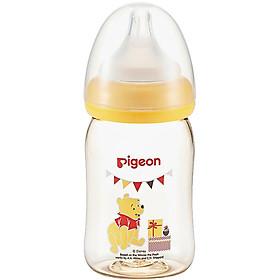 Bình sữa cổ rộng PPSU Plus Gấu Pooh Pigeon