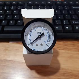 Đồng hồ đo áp suất nước, khí nén, áp kế, van đo áp suất Y50, 0~1.2 Mpa (0~12 kg / cm2)