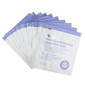 Combo Mặt Nạ Dưỡng Ẩm Sâu, Làm Sáng Da By Wishtrend Hours-long Moisturizing Gauze Sheet Mask 30ml x10