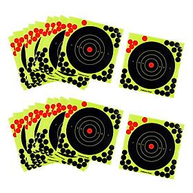 20 Pcs Splatter Reactive Self Adhesive Shooting Targets Gun