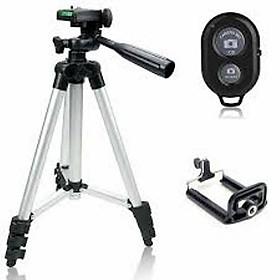 Chân máy ảnh/ Gậy chụp hình 3 chân dùng livestream TRIPOD: 3110 + Remote, 3120 + Remote (Hàng nhập khẩu)