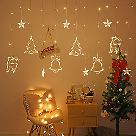 Đèn Giáng Sinh NoEn MoXi Thả Rèm  Treo Cửa Dài 2,5m