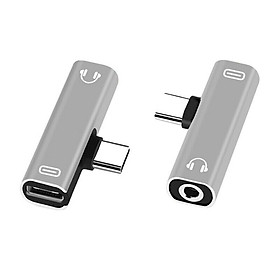 Fun Type-C to 3.5mm AUX Jack Audio Charging Adapter for Huawei Xiaomi Samsung Cellphone