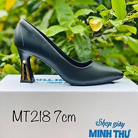 [ Shop giày somina ] Cao gót 7cm ốp đồng MT218