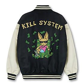 áo khoác dù JACKET KILL SYSTEM, Áo khoác dù kiểu bomber logo Kill System phong cách, ÁO KHOÁC DÙ NAM NỮ FORM RỘNG KILL SYSTEM SIÊU CHẤT MỚI VỀ, ÁO KHOÁC DÙ CÓ NÓN UNISEX ULZZANG PHONG CÁCH HÀN QUỐC