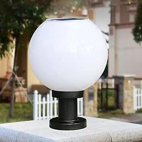 Đèn LED Trụ Cổng Tròn Năng Lượng Mặt Trời (200mm)