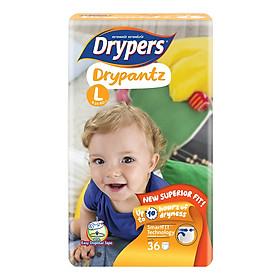 Tã Quần Drypers Drypantz Gói Đại L36 (36 Miếng)