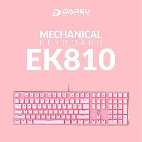 Bàn Phím Cơ Gaming Dareu EK810 Multi Led Pink - Hàng Chính Hãng