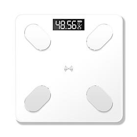 Cân điện tử thông minh với màn hình hiển thị LCD hỗ trợ đo lượng mỡ cơ thể tính toán BMI bằng ứng dụng hỗ trợ