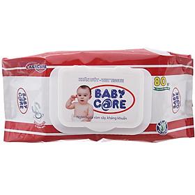 Combo 5 Gói Khăn Ướt Baby Care 80 Tờ Không Mùi-1