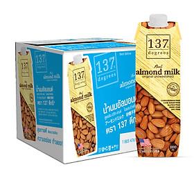 Thùng Sữa Hạnh Nhân Không Đường 137 DEGREES 1000ml (Thùng 12 hộp)