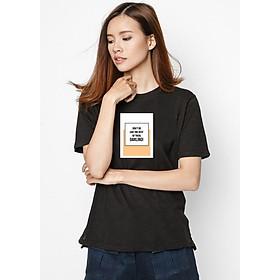 Hình đại diện sản phẩm Áo Thun Nữ Nữ In Hình Do Not Be Like The Rest Of Them SuviT26101711 - Đen