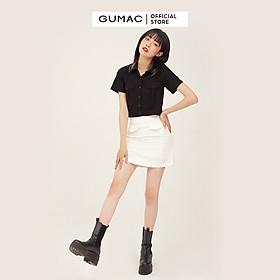 Áo sơ mi nữ thiết kế túi hộp năng động trẻ trung GUMAC AB367