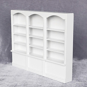 1/12th Dollhouse Miniature Furniture Wood Display Cabinet Bookcase White