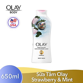 Sữa tắm OLAY Fresh Outlast Cooling White Strawberry and Mint (650ml)