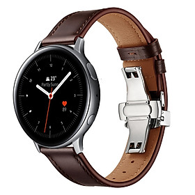 Dây Da Dành Cho Galaxy Watch Active 1, Galaxy Watch Active 2, Galaxy Watch 42, Gear S2 Khóa Chống Gãy (Size 20mm)