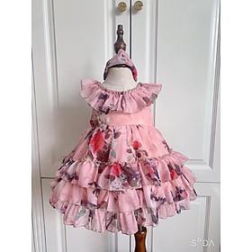 Váy Công Chúa  TẶNG KÈM TURBANVáy Bé Gái - Đầm Trẻ Em Hàng Thiết Kế Cao Cấp VNXK Bé Từ 1 - 8 Tuổi
