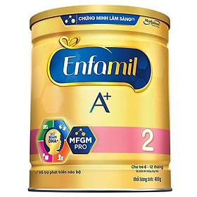 CRM - Sữa Bột Enfamil A+ 2 (400g) dành cho trẻ từ 6 - 12 tháng