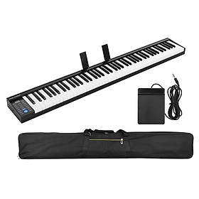 88 Keys Digital Electronic Piano Keyboard MIDI Output Built-in Stereo Speakers Light Strip with 400 Tones 128 Rhythms 80