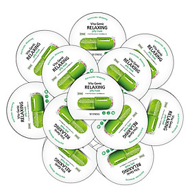 Combo 10 Mặt nạ cho da hư tổn, da kích ứng, nhạy cảm BNBG Vita Genic Relaxing Jelly Mask 30ml x 10