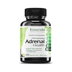 Adrenal Health - with Sensoril  Ashwagandha for Improved Energy Levels, Sleep Support, Stress Relief, & Promotes Mental Clarity - Emerald Labs - 60 Vegetable Capsules