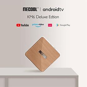 MECOOL KM6 ATV Deluxe Amlogic S905X4 4GB RAM 64GB ROM bluetooth 5.0 5G WiFi6 Android 10.0 TV Box Support Google Assistant 4K Youtube Prime Video AV1 - Hàng nhập khẩu