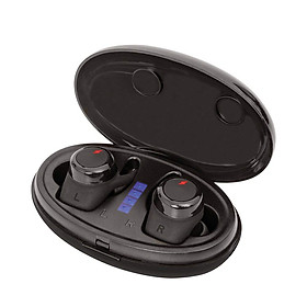 Tai Nghe Không Dây Bluetooth V5.0 TWS Có Mic Kèm Vỏ Sạc Cho iPhone iPad Samsung Galaxy LG - Đen
