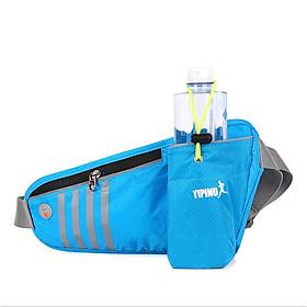 Túi đai đeo bụng hông chạy bộ phản quang YIPINU có ngăn đựng bình nước YS12