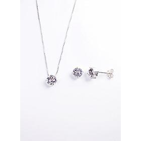 Bộ trang sức bạc Keely Valda  Nụ Xinh Kim Cương đính đá Swarovski