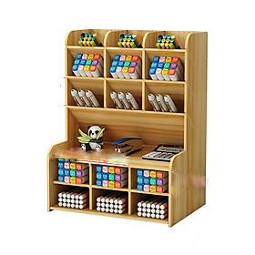 Hộp cắm bút bằng gỗ, kệ bút mini , hộp bút , cắm viết các loại ( Mầu ngẫu nhiên )