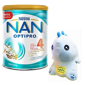 Sữa Bột Nestlé NAN OPTIPRO 4 Lon 1.8kg - Tặng Khủng Long Bằng Bông