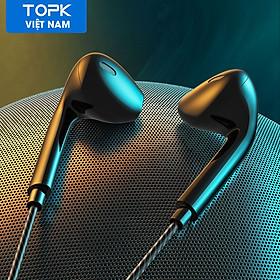 Tai Nghe Nhét Tai TOPK F20 Tai Nghe Micro Dây Bass Nặng Điều Khiển Kèm Micro Cho iPhone 6 Xiaomi OPPO Vivo - Hàng nhập khẩu