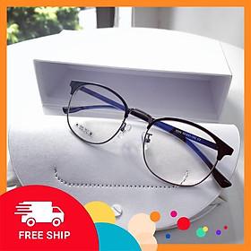 Gọng kính cận hợp kim kết hợp nhựa6209 - Kính giả cận cho cả nam và nữ - Tiệm kính Candy