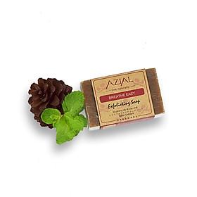 Xà Phòng Tắm Tẩy Tế Bào Chết Chiết Xuất Lá Bạc Hà Khô 100% Thiên Nhiên AZIAL Breathe Easy Exfoliating Soap 100g