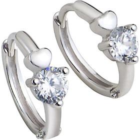 Bông tai trẻ em bạc đính đá PNJSilver XM00K000115-BO