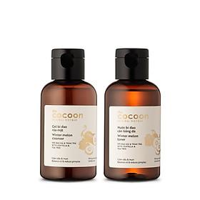 Combo gel bí đao rửa mặt Cocoon 140ml + nước bí đao cân bằng da Cocoon 140ml