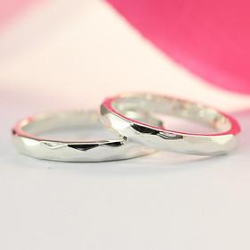 Nhẫn cặp dành cho học sinh, nhẫn đôi teen bạc đẹp giá rẻ ND0361